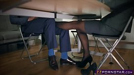 Pantyhose office bitch footplay...