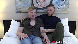 MyFTMCrush - Sexy MTF Luke Hudson fucked by cute ginger after interview