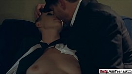 Bald babe licked and fucked by her guy