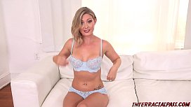 Blonde Addison Lee pounded...