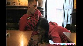 Horny couple get naughty...