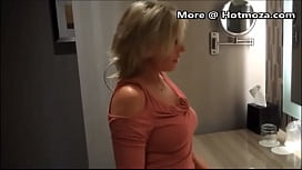 Mom rewards her s. for his great game by sucking and pleasuring his huge donkey cock with her wet mouth and tongue and let&rsquo_s him empty his balls in her mouth and on her boobs