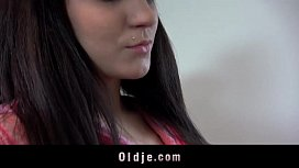 Brunette youngster gives true...