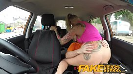 Fake Driving School Big Tits babe Fucks her instructor to pass her test