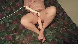 Part3 My wife using a huge dildo and her vibrator for a good orgasm