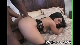 Black doxy with great round ass loves to be fucked hard