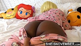 Sleeping Ass, Waited For My Step Daughter To Fall Asleep. Pervert Step Dad Sneaking Into Msnovember Bedroom While Her Mom Is Sleep For A Quick Jerk Session Playing With Her BlackAss &amp_ Blackpussy , And Sleepblowjob  On Sheisnovember
