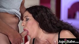 Rob offers his meaty cock as a treat for granny Lili