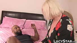 BBW Lacey Starr joins interracial threesome fuck