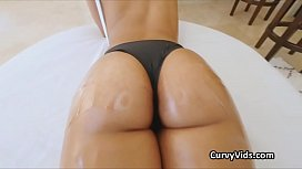 Oiled Latina booty pounded...