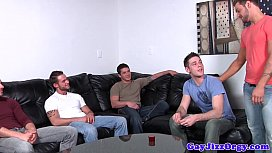 Gay jock orgy with...