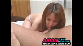 Cute asian girl loves facials and tiny asian dick in her tight hairy pussy