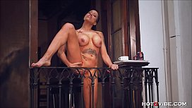 Busty Cougar Squirts from...