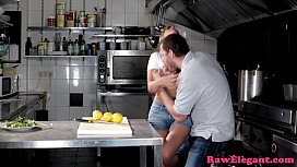 Beautiful chef babe assfucked...