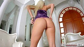Stunning bushy blonde gets...
