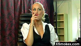 Phat Booby Enthralling Smoking Mature Seduced And Rammed