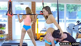 Gym babes with stacked...