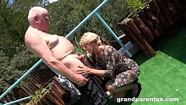 Rejuvenating Grandpa'_s Worn Out Cock with Granny