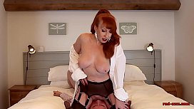 Mature British redhead oral fun time with her husband