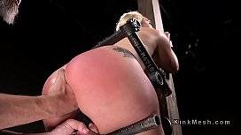 Blonde got anal fisted...