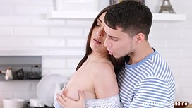 X-Angels.com -Milana Witch - Cutie swallows her everyday breakfast