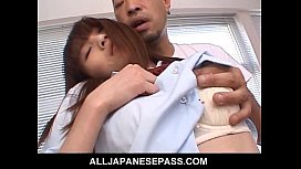 Slutty Asian schoolgirl gets...