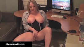 Office Slut Maggie Green...