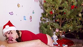 MILF Blowjob and Riding on Huge Dick Closeup for Christmas xnxx image