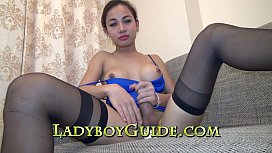 Asian Ladyboy Wanks For...