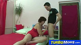 Mom Helena is 50 gets fucked by her son in law