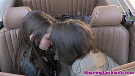 Real lesbian lovemaking in cool HD