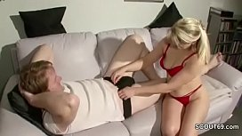 German MILF Seduce Young...