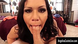 Angelina Castro Sucks Cock...