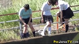 Teenage asians urinating...