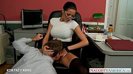 Office babe in glasses...