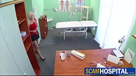 Naughty blonde patient gets...