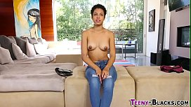 Black amateur teen rides...