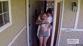 Teen babe with big...
