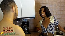 Big Booty Adriana Malao First Time Amateur Fuck In Kitchen Gagged
