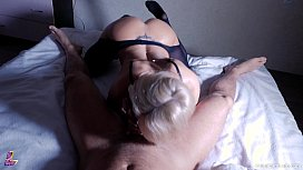 Hot Blowjob and Oiled...