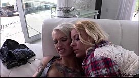 Hardcore anal session with the hot babes Cameron and Kleio