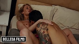 Blonde (Daisy Stone) has romantic night with inked bff - Bellesa
