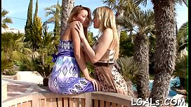 One of wicked teen sluts is getting muff fisted by her gf