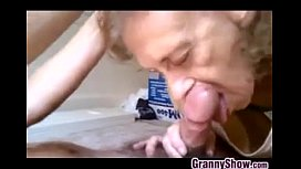 Nasty Grandma Sucking Some Young Cock