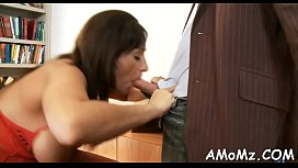 Licking and fucking sexy mommy