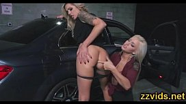 Sexy blondes amazing play...