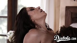 Busty stepmom in high heels creampied after sensual sex