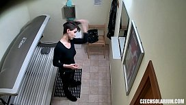 Sexy Short Haired Girl on Hidden Camera