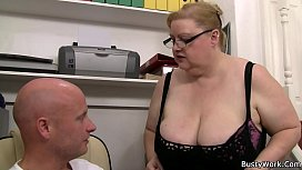 Big tits woman in...