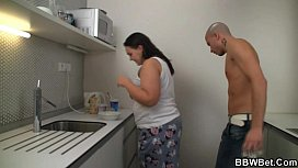 Horny guy fucks cooking...